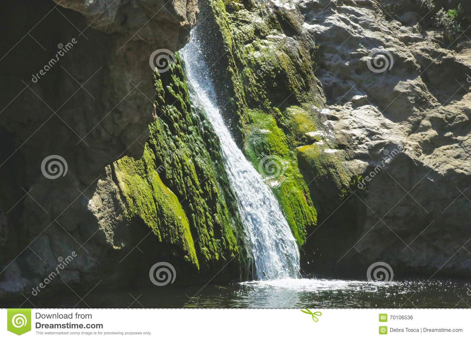 Waterval groen mos