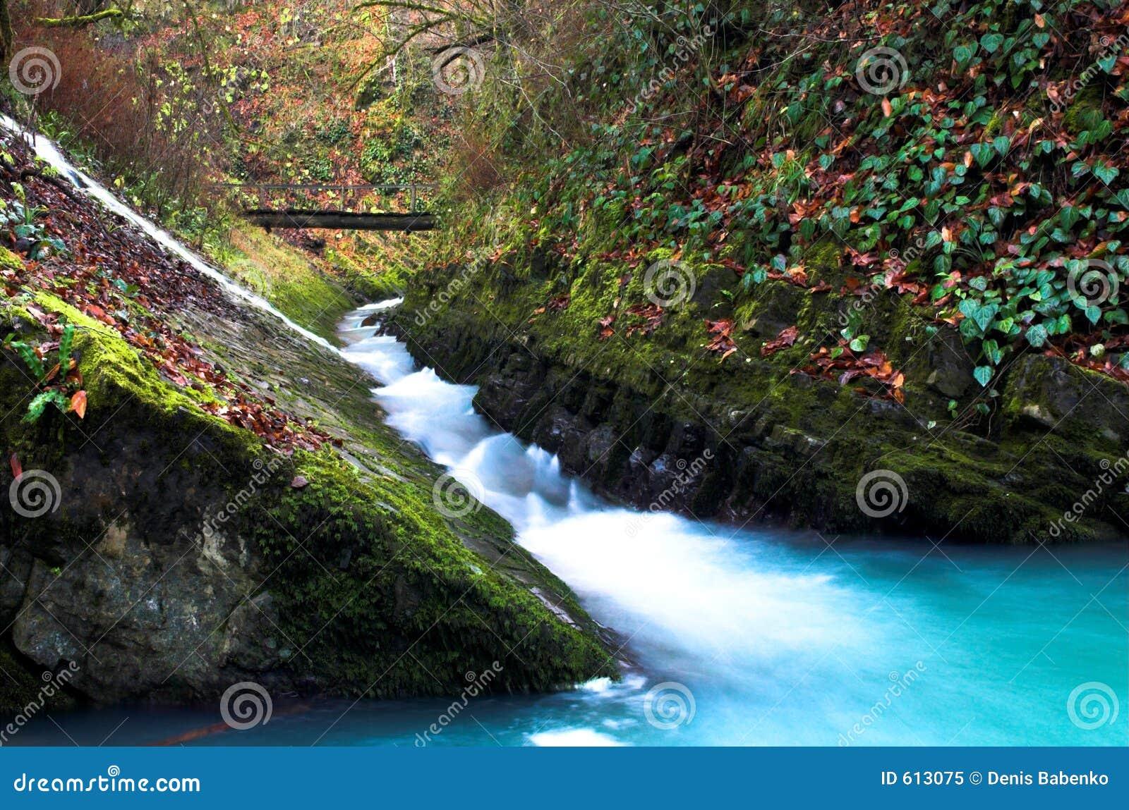 Waterval met de brug