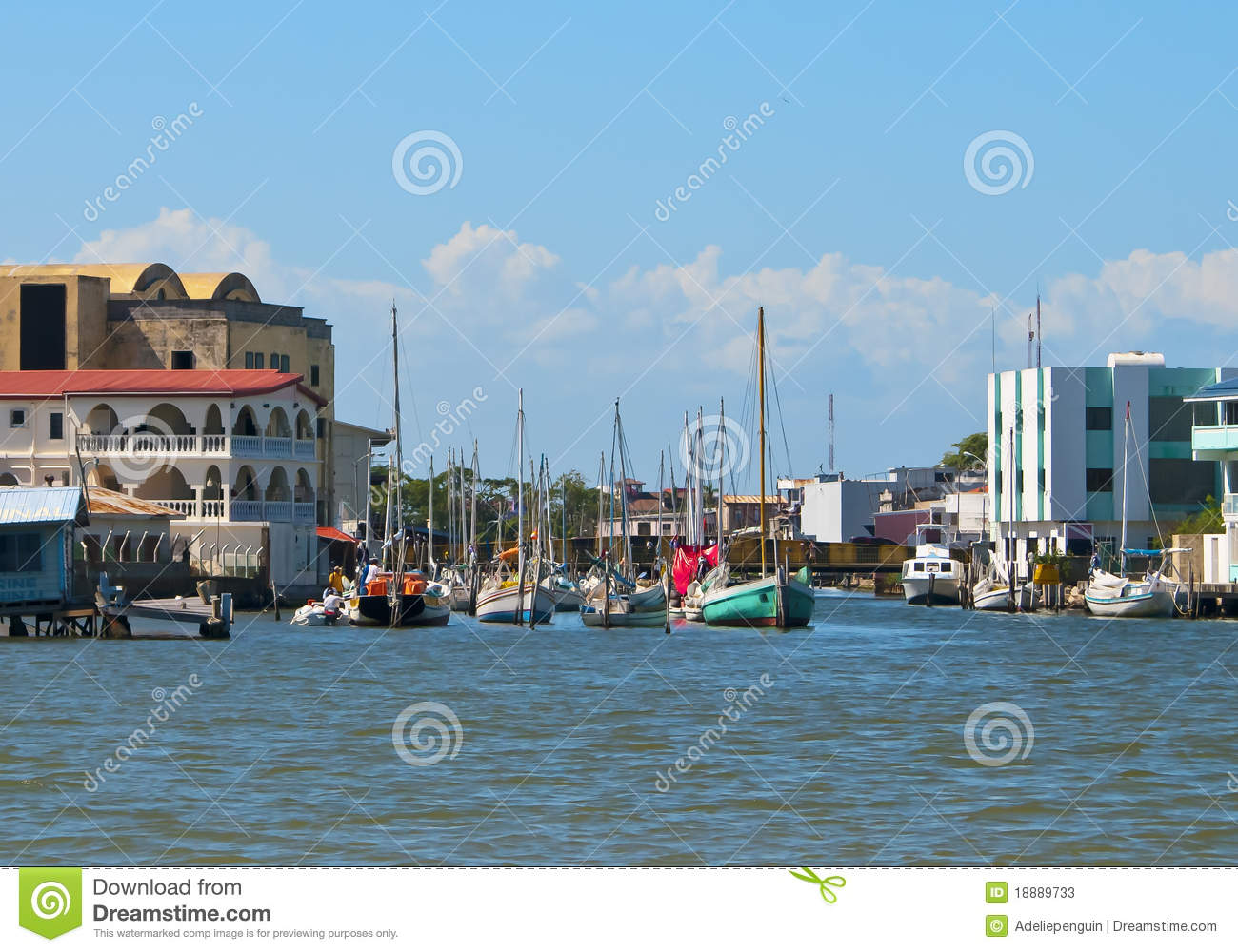 Waterway of Belize City, Belize