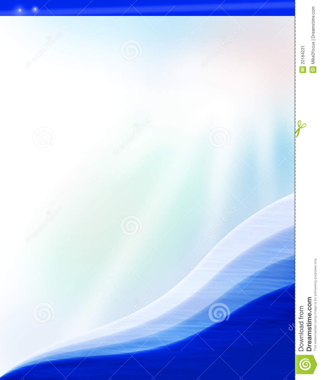 Colorful Water Background Document Template Stock