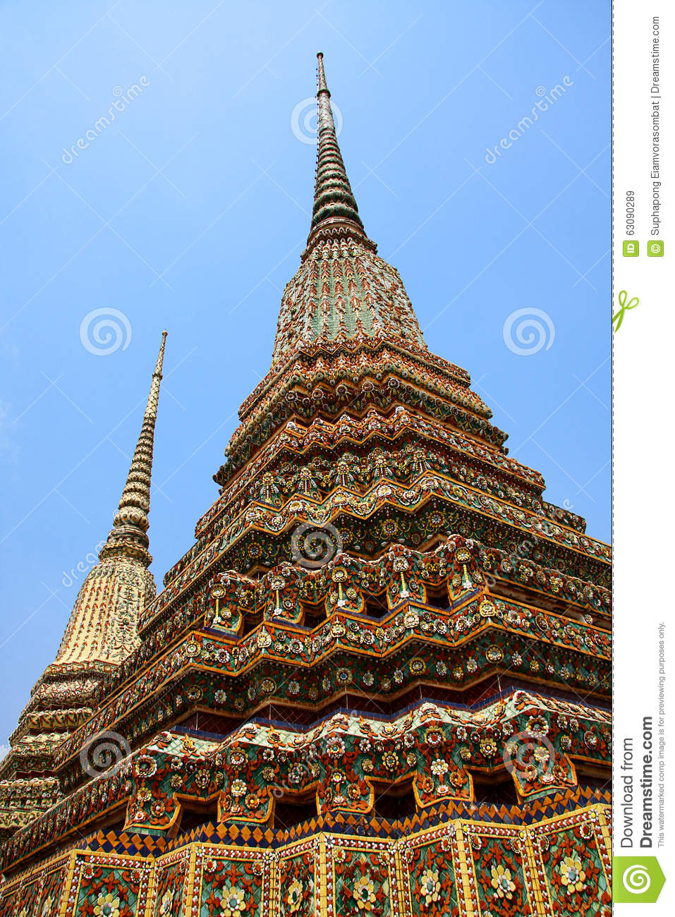Download Watpho image stock. Image du asie, d0, temple, thailand - 63090289