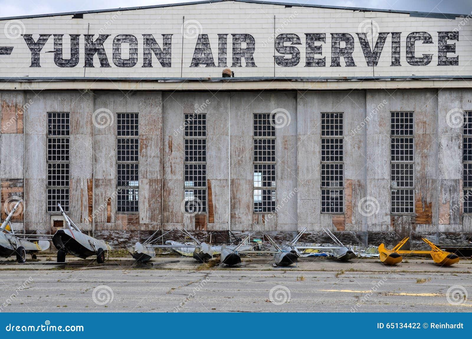 Watson Lake, Canada, historic airport hangar