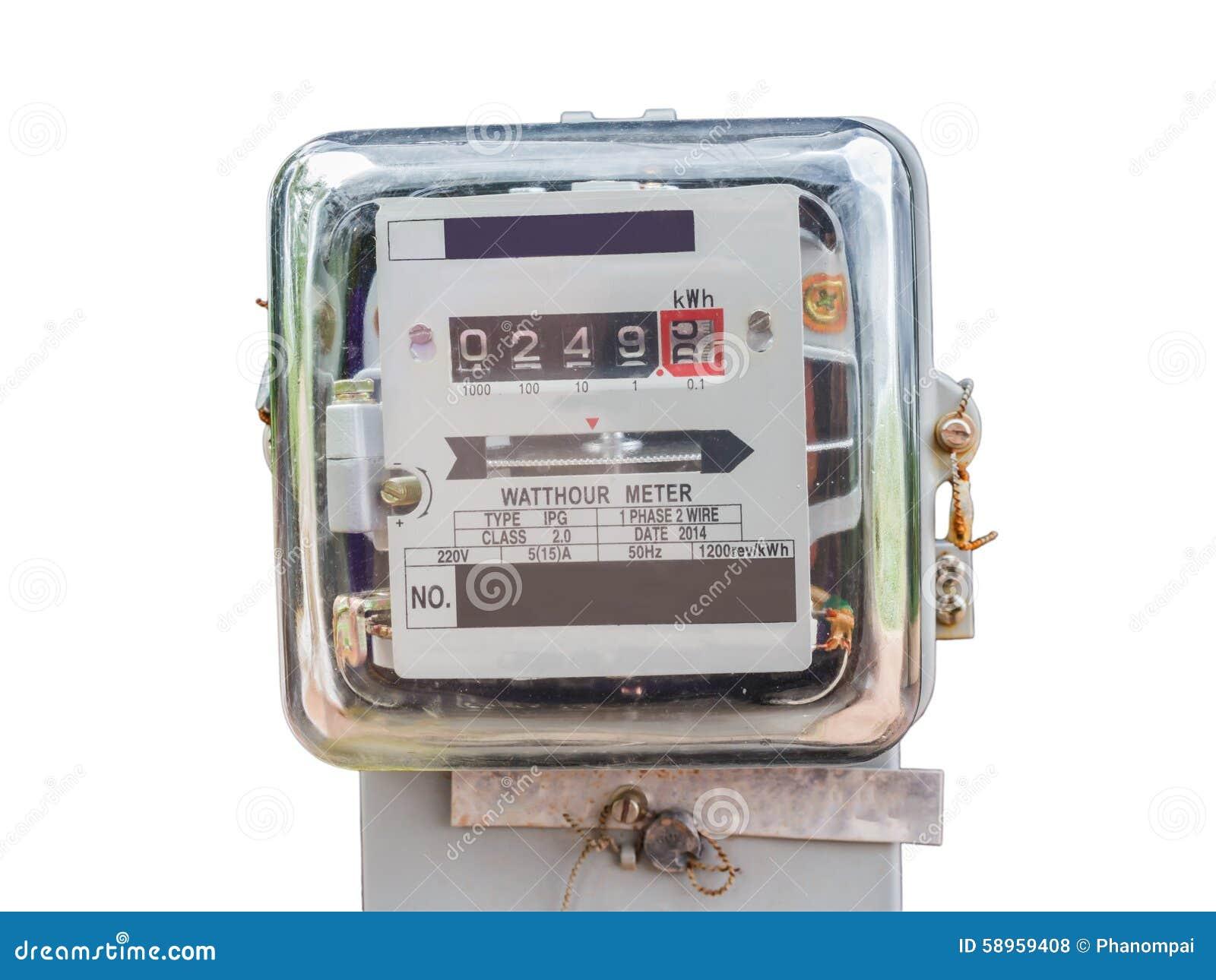 Electric Hour Meters : Watt hour electric meter measurement tool home use front