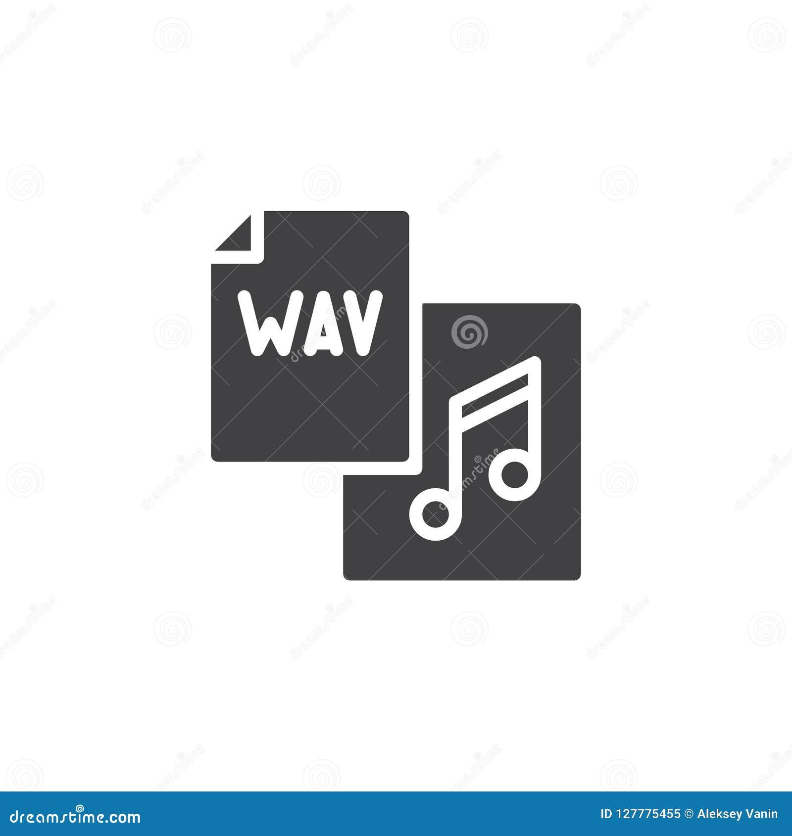 Wav File Format Vector Icon Stock Vector - Illustration of paper