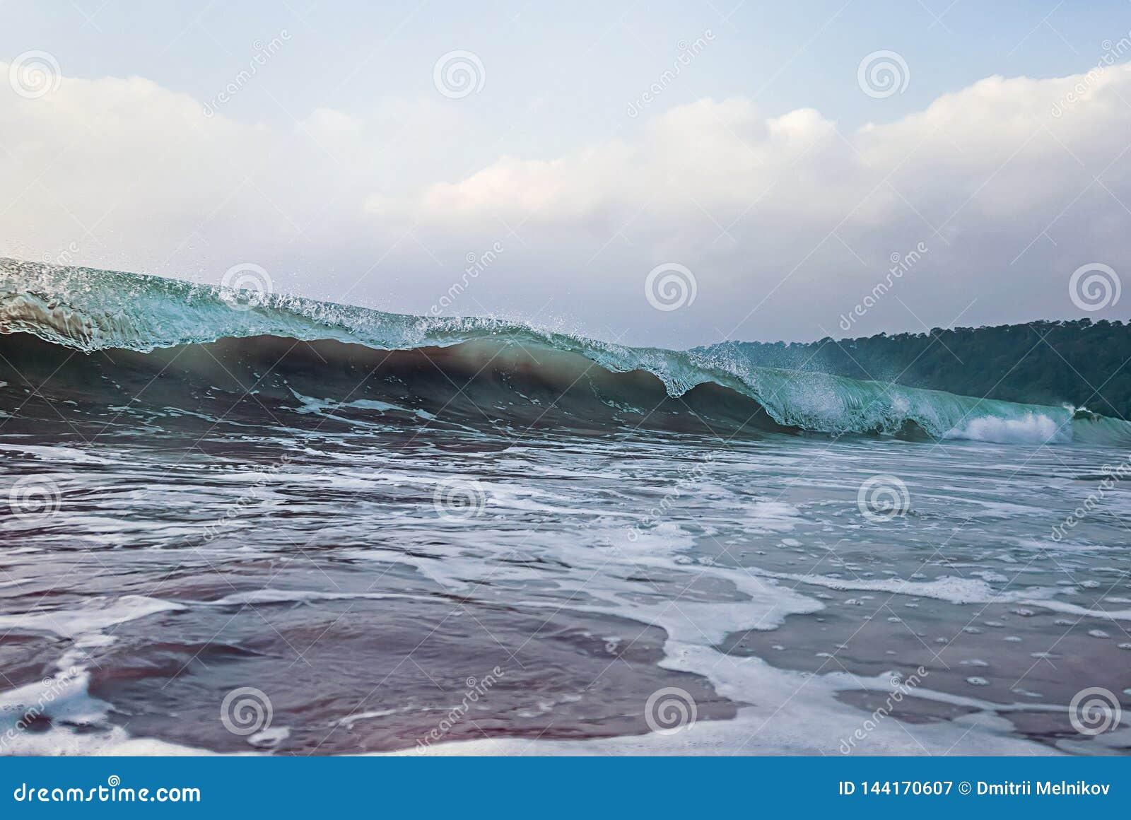 Wave Blue Crashing Detail Ocean wave cresting crashing rolling