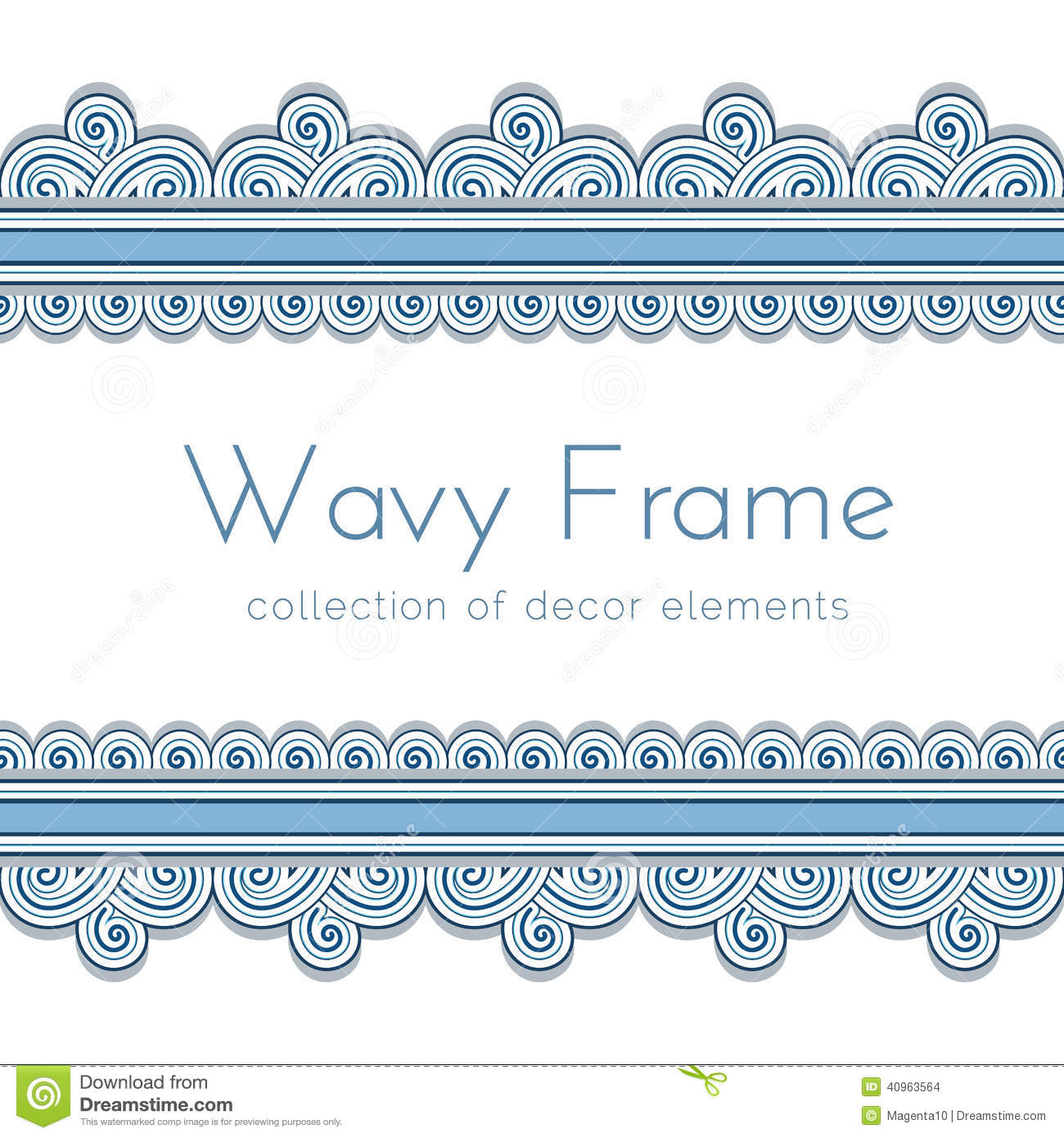 Wave Border Frame Stock Vector Image 40963564