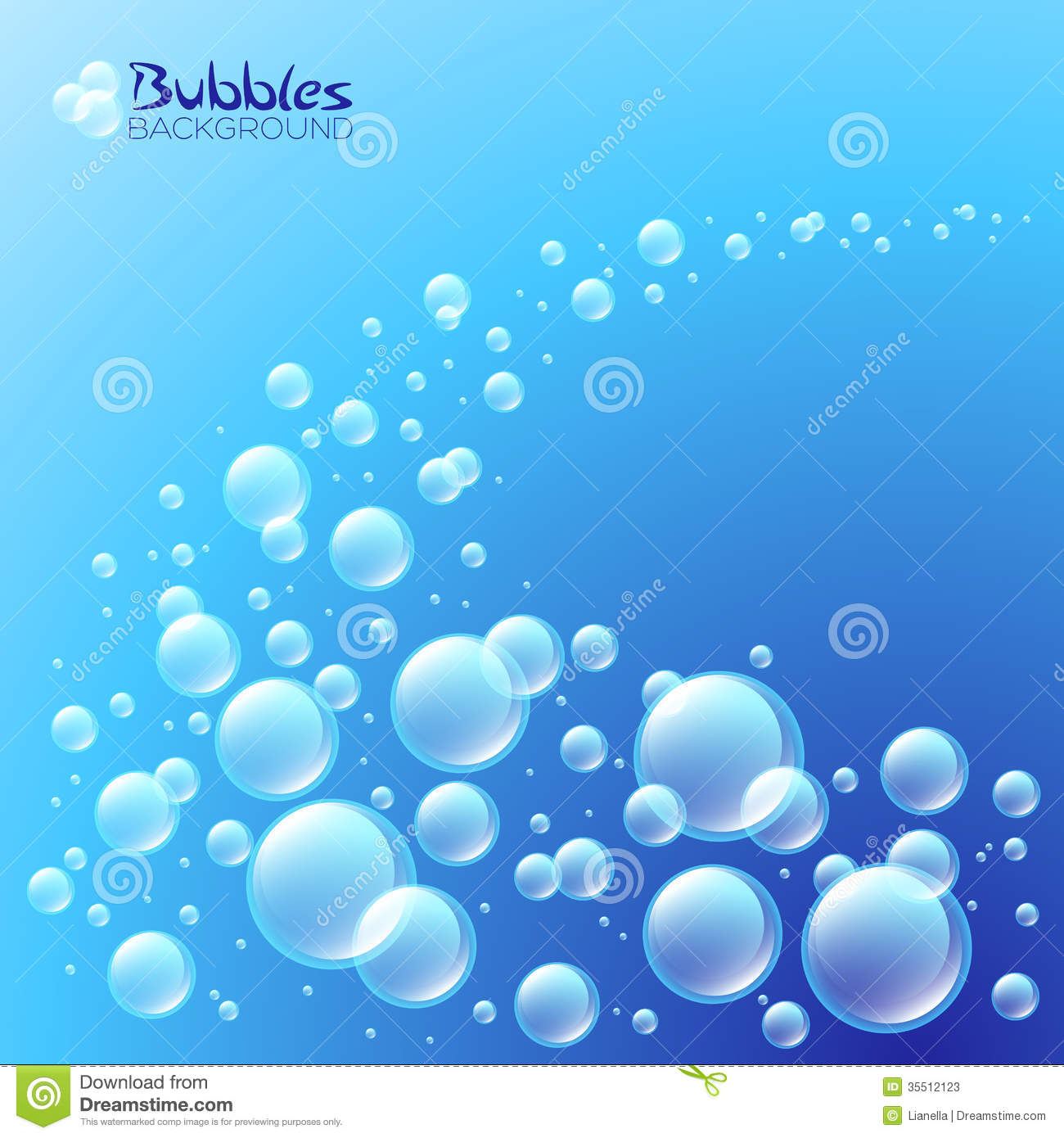 Wave Of Bubbles Stock Vector Image Of Bright Drink
