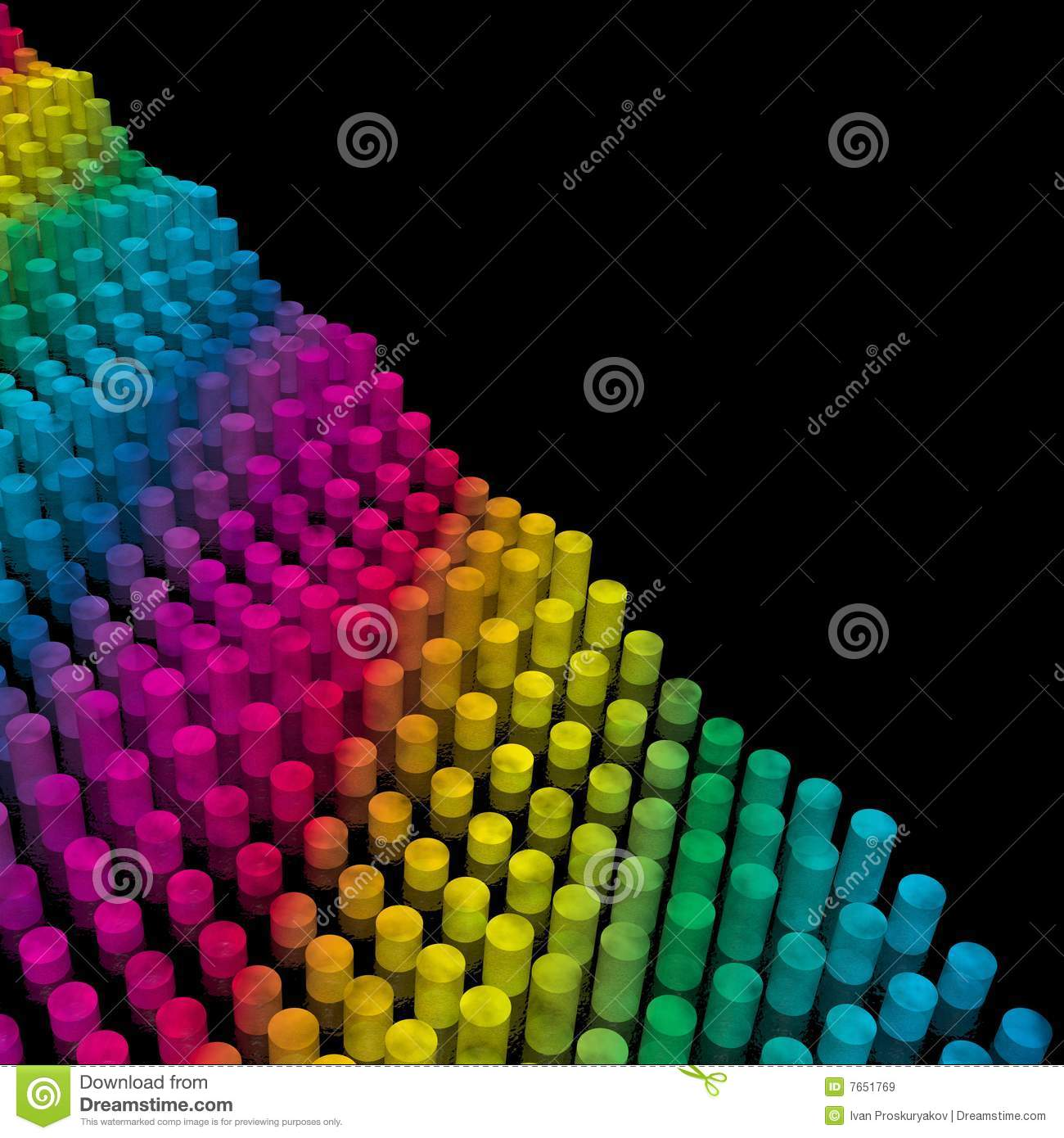 Wave from color cylinders