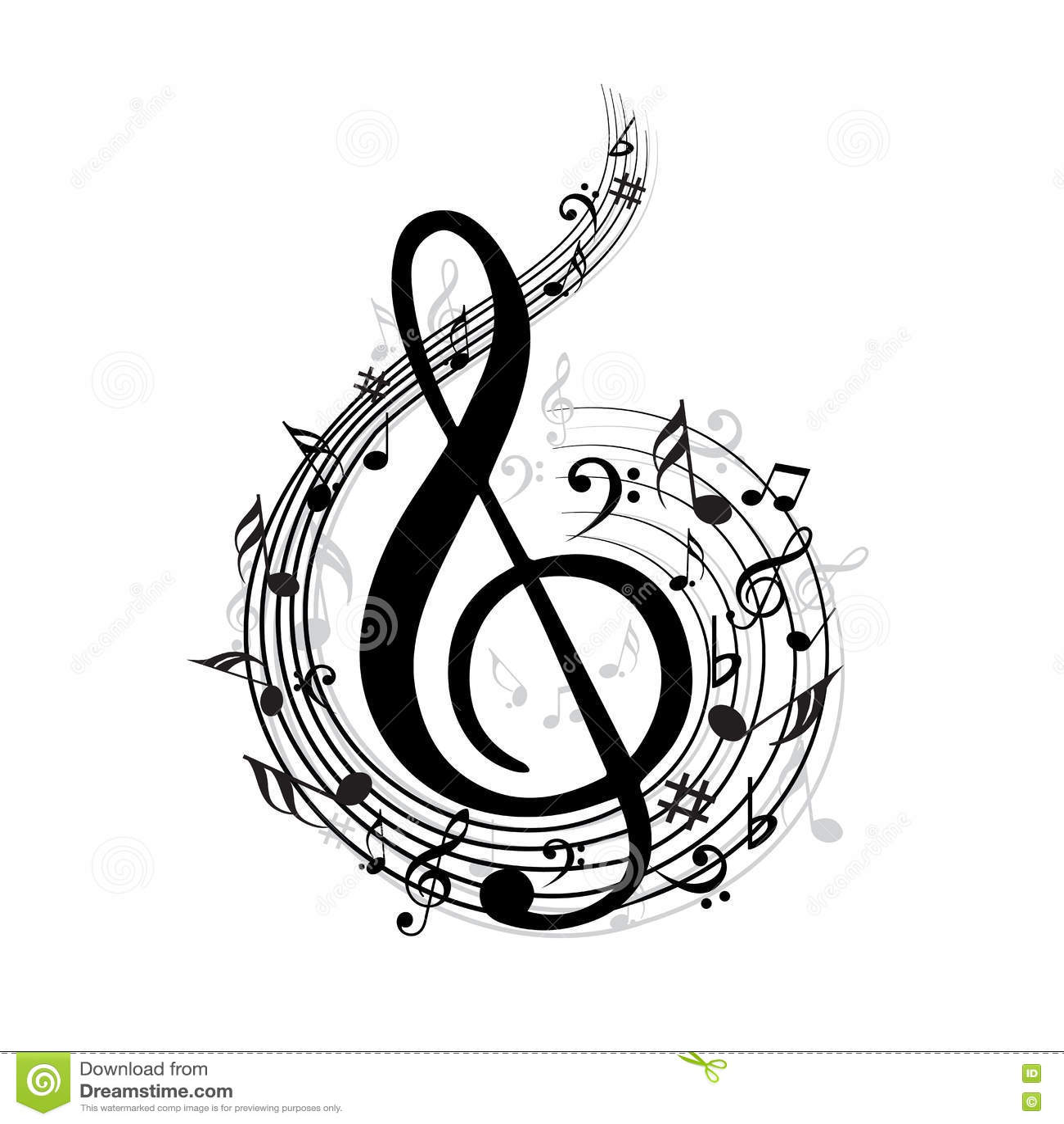Wave för klassisk musikanmärkningsvektor