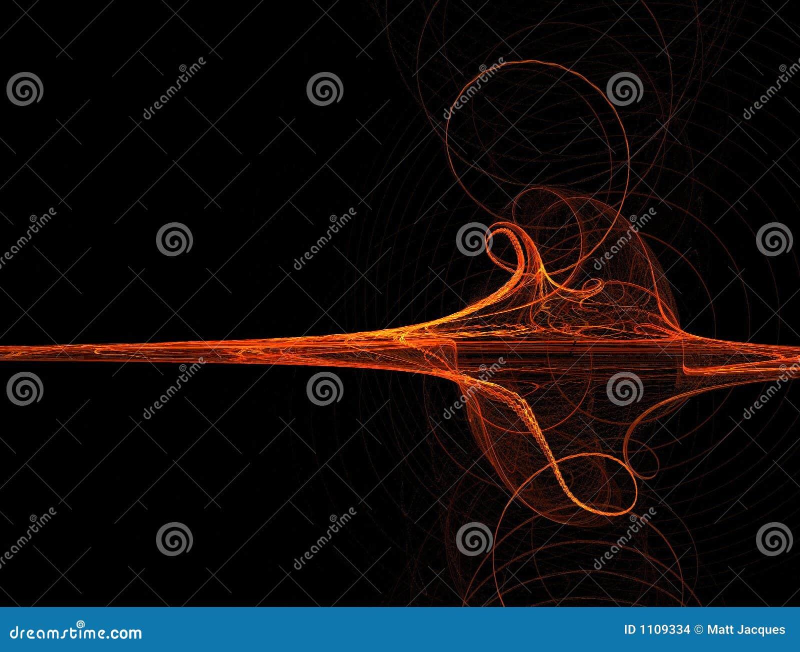 Wave för orange red för fractal