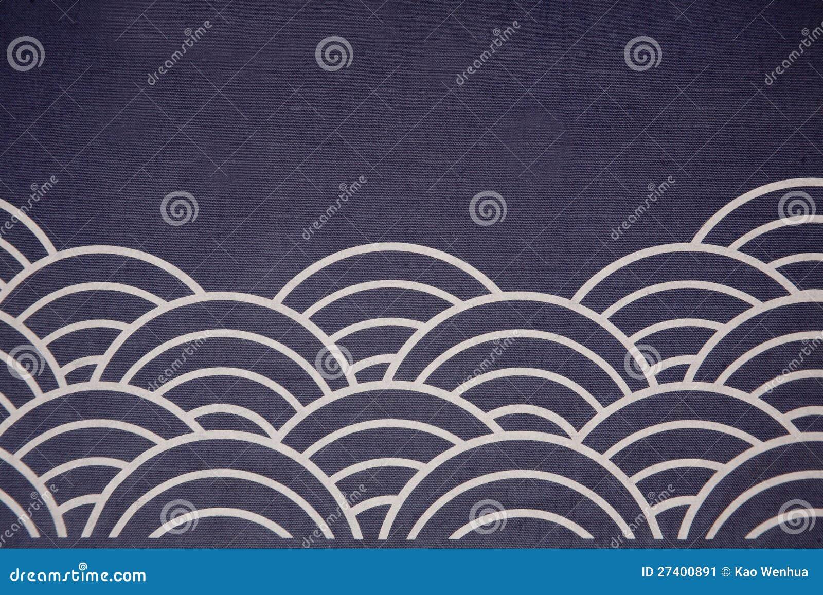 Wave Flag Japanese Style Stock Image Image