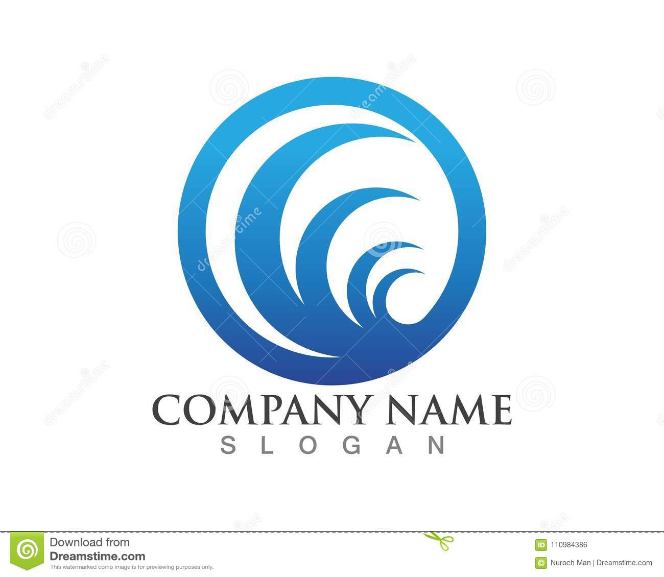 wave logos template and symbols stock vector illustration of