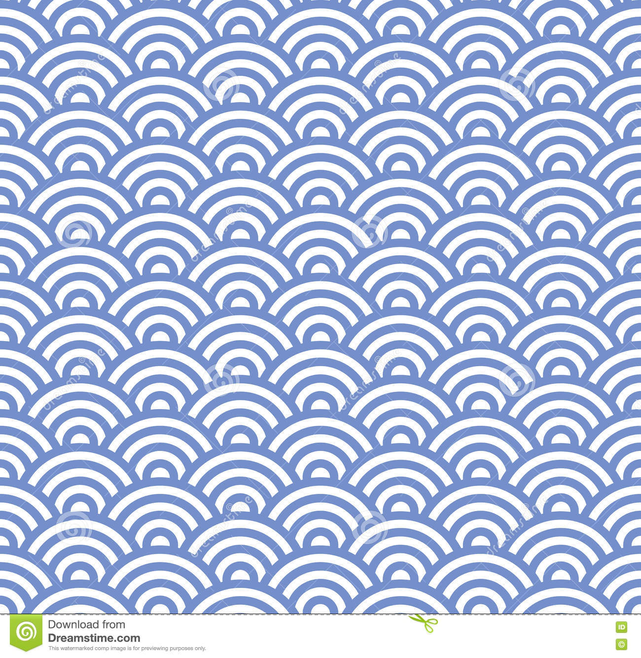 Wave Seamless Blue Pattern. Vector Stock Vector - Image