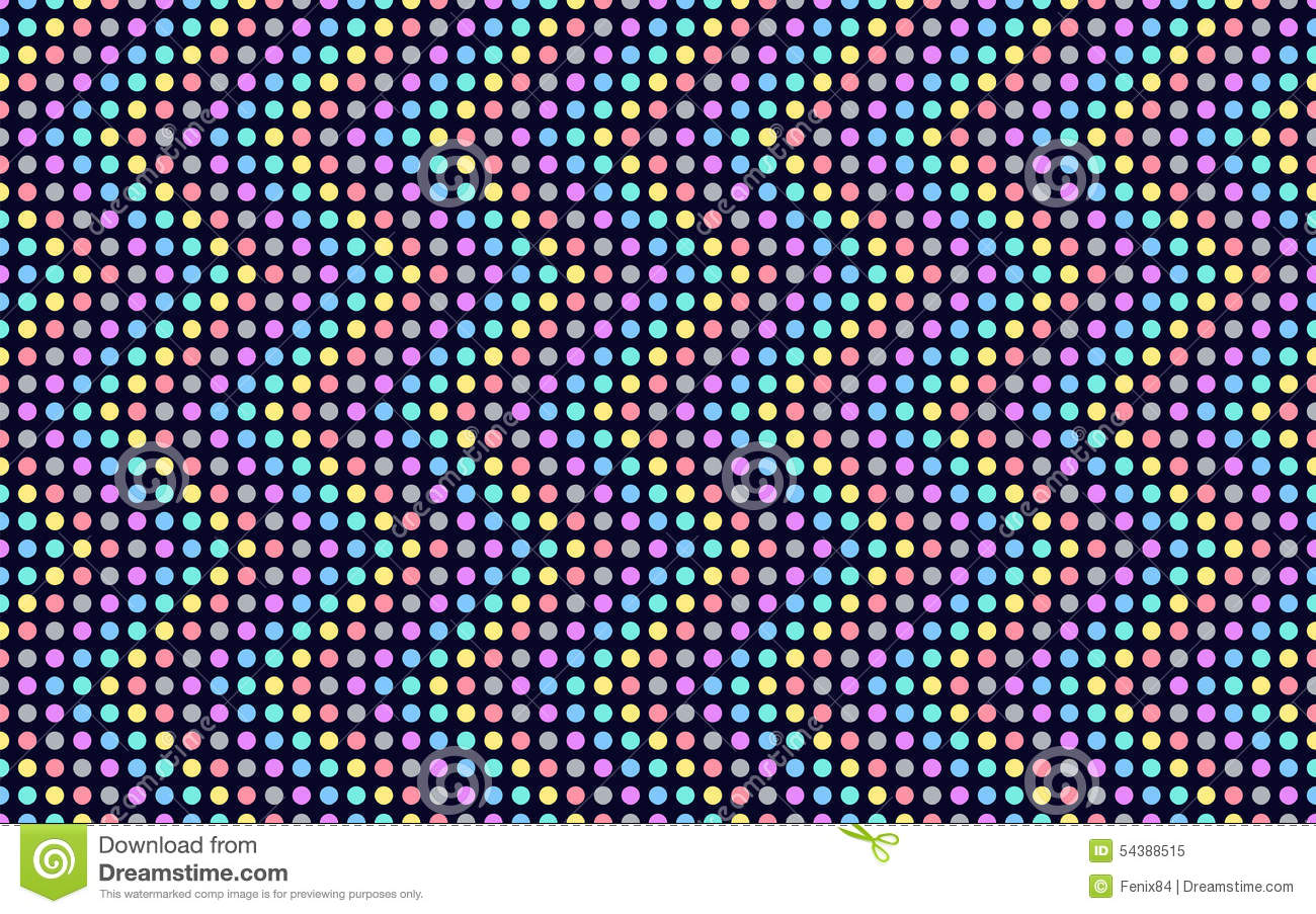Wave Series Of Colored Dots. Stock Vector