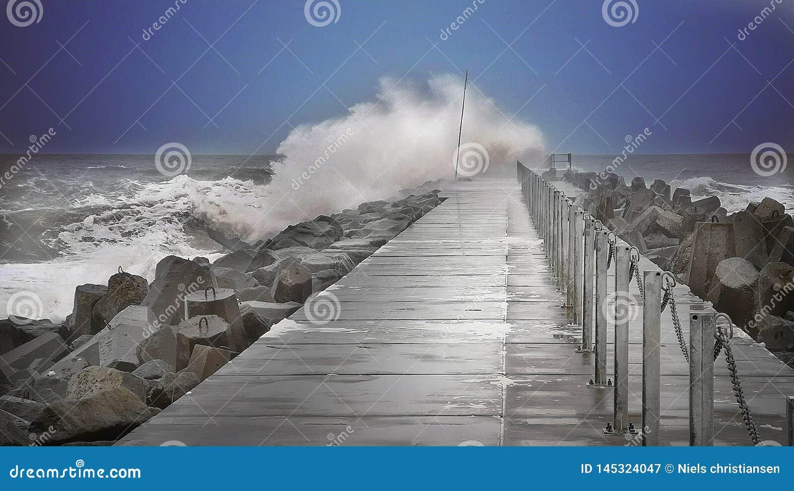 Wave sopra il pilastro