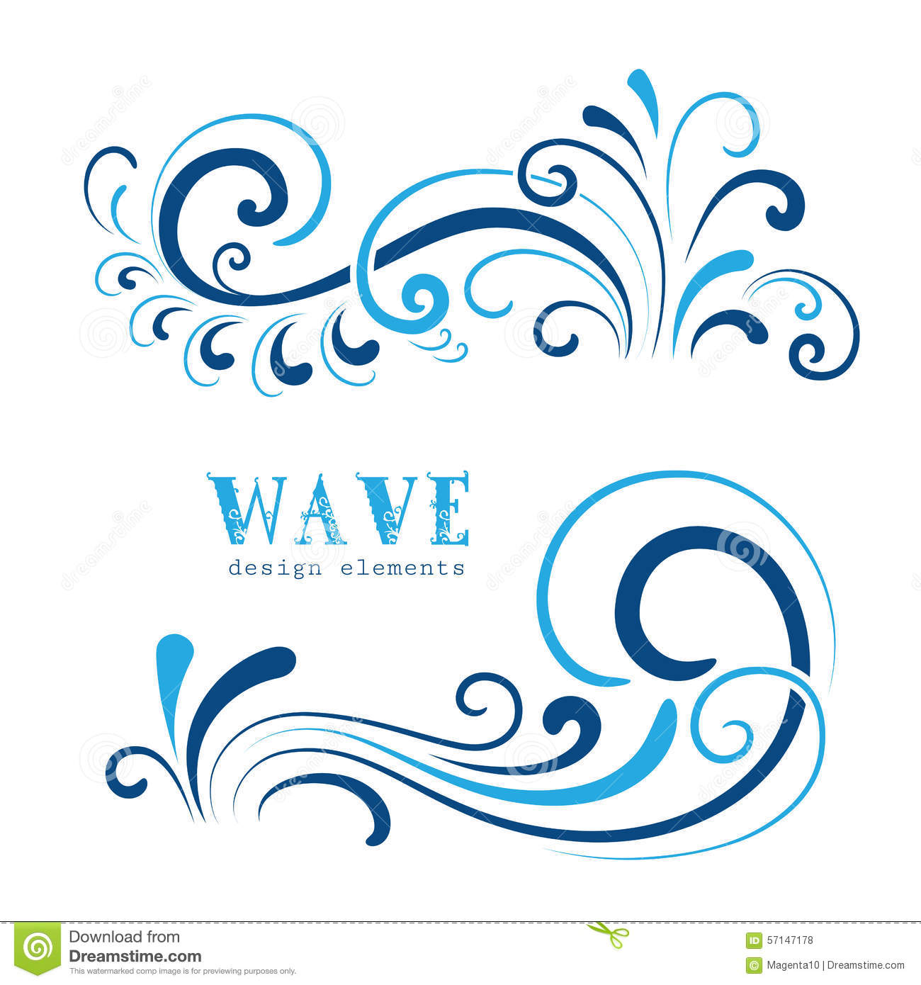 Wave swirls