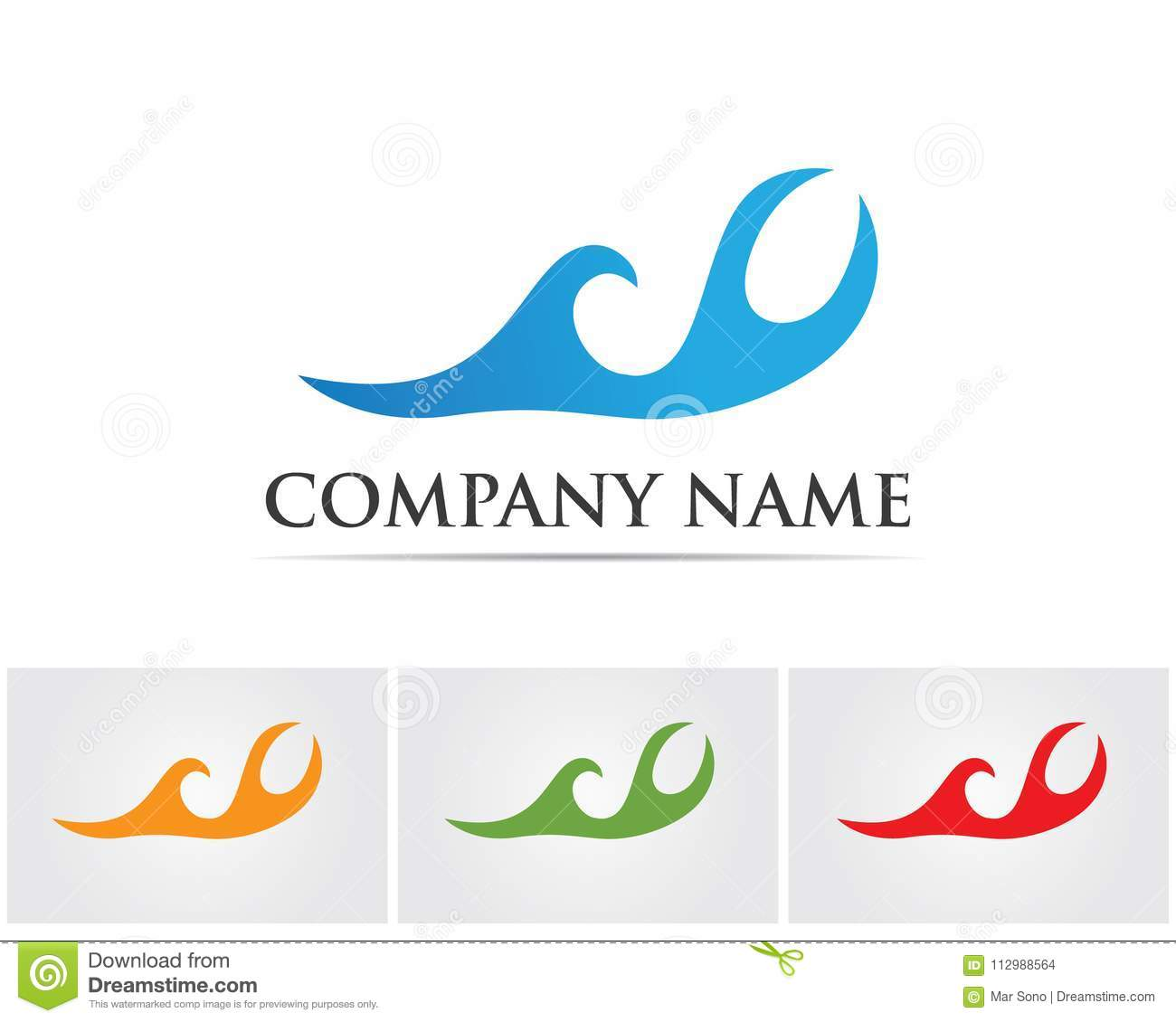 Waves beach logo and symbols template icons app..