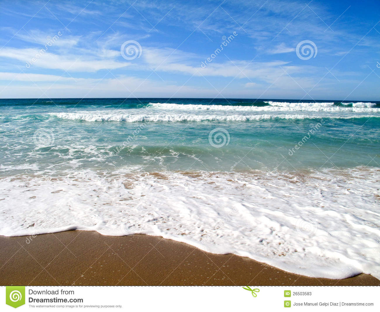 how to draw waves on shore
