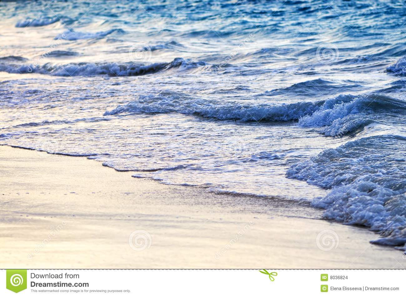 Waves Breaking On Tropical Shore Stock Images Image 8036824