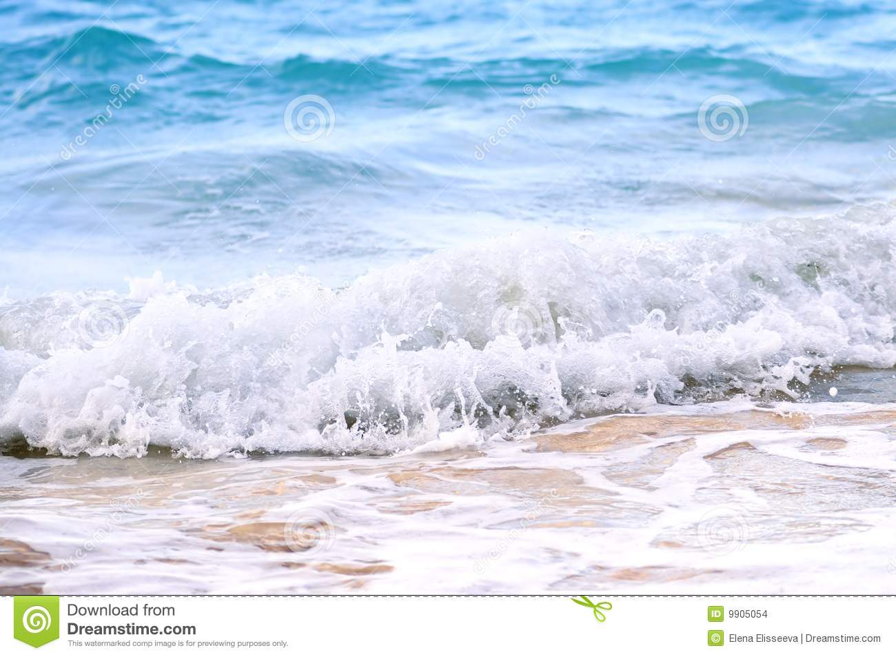 Waves Breaking On Tropical Shore Stock Images Image 9905054