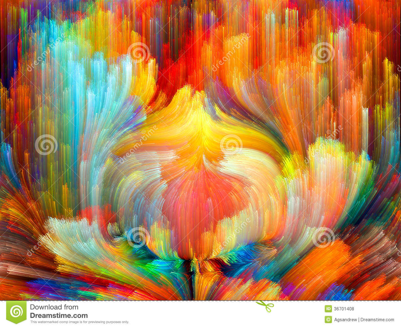 Waves Of Color Royalty Free Stock Photos