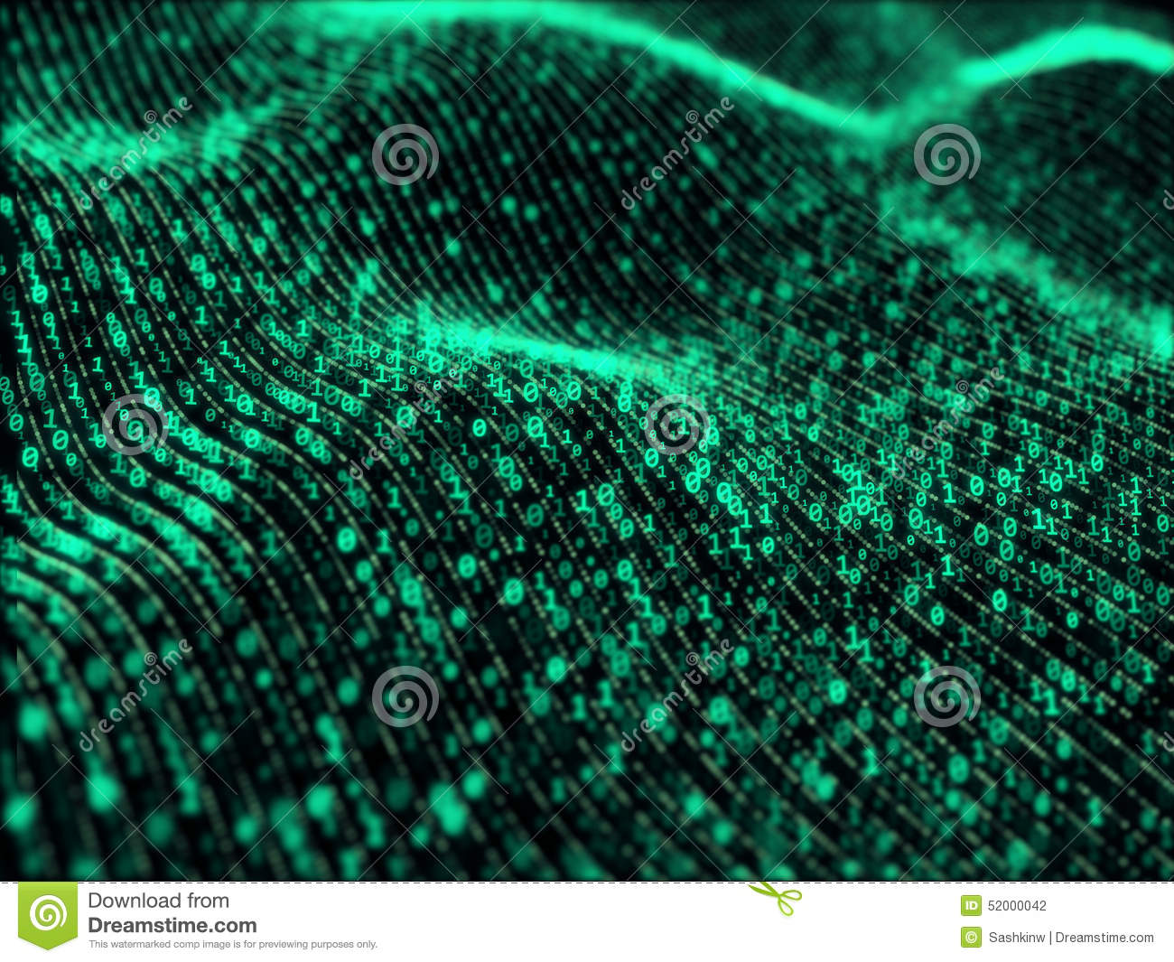 Download Waves Of Digital Information Stock Photo - Image of information, glitch: 52000042