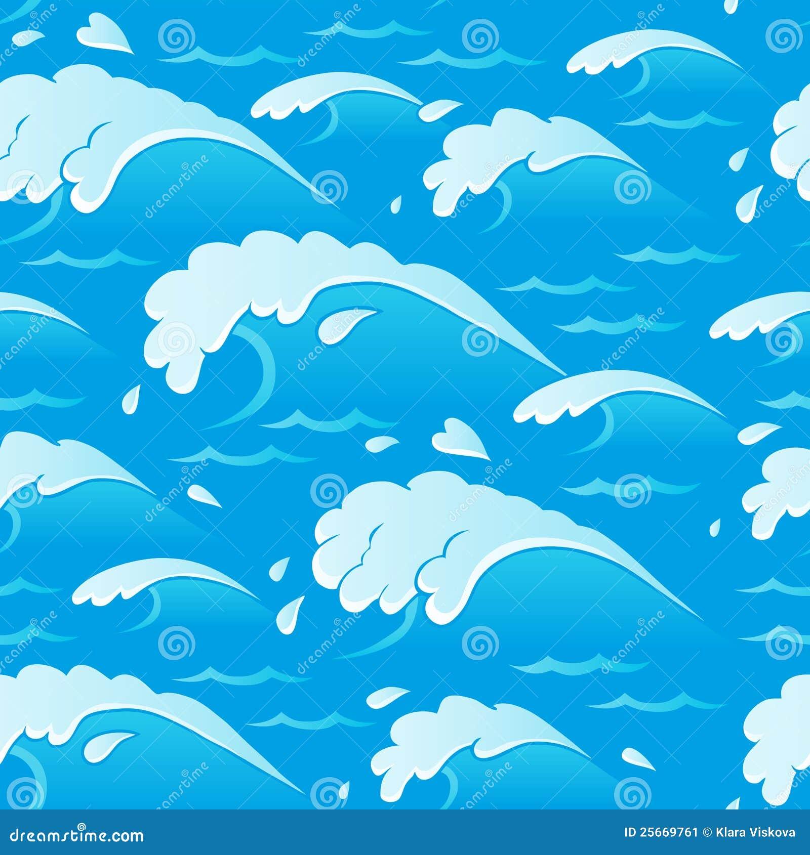 Waves för 1 tema för bakgrund seamless