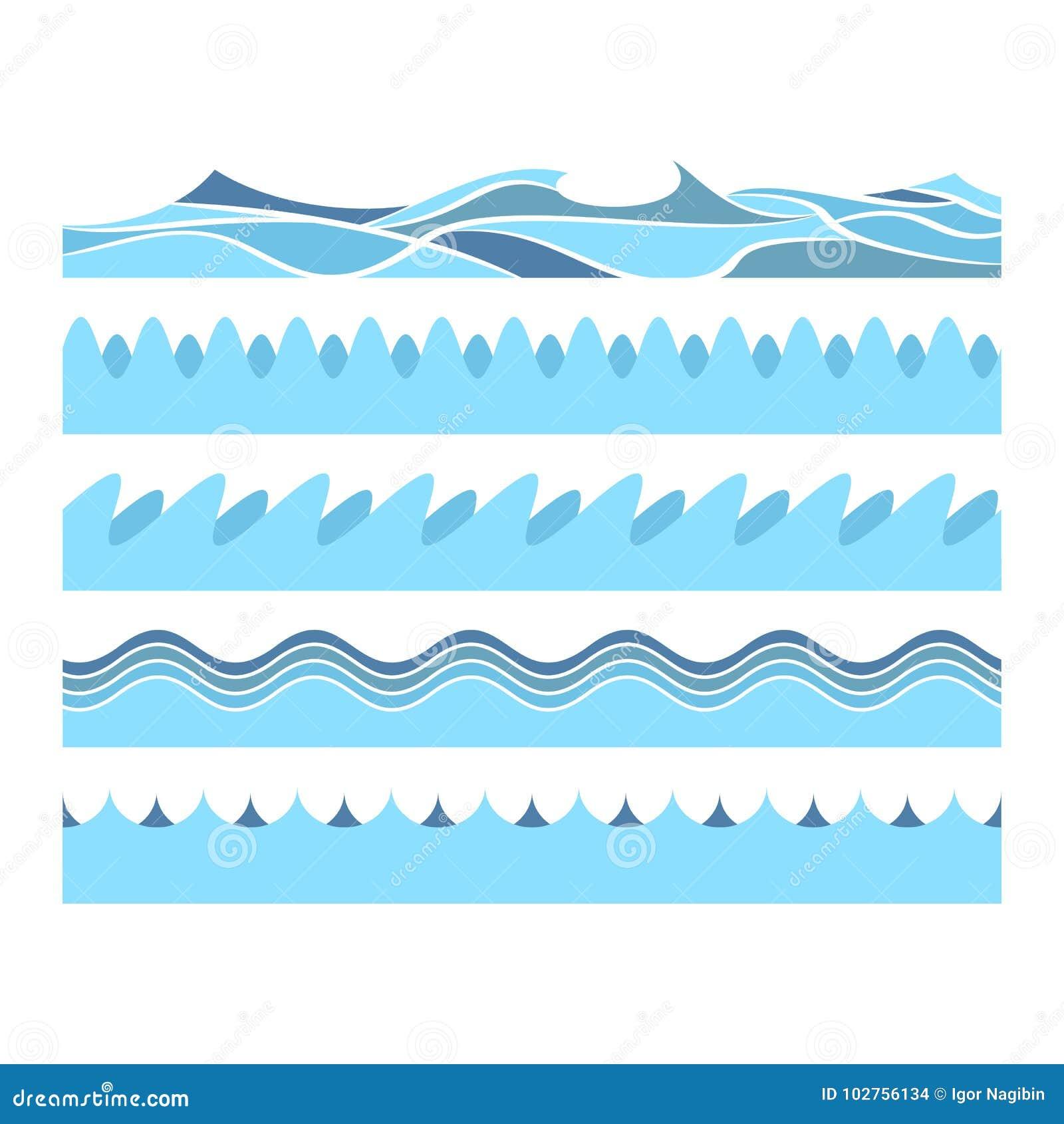 Waves för blått vatten