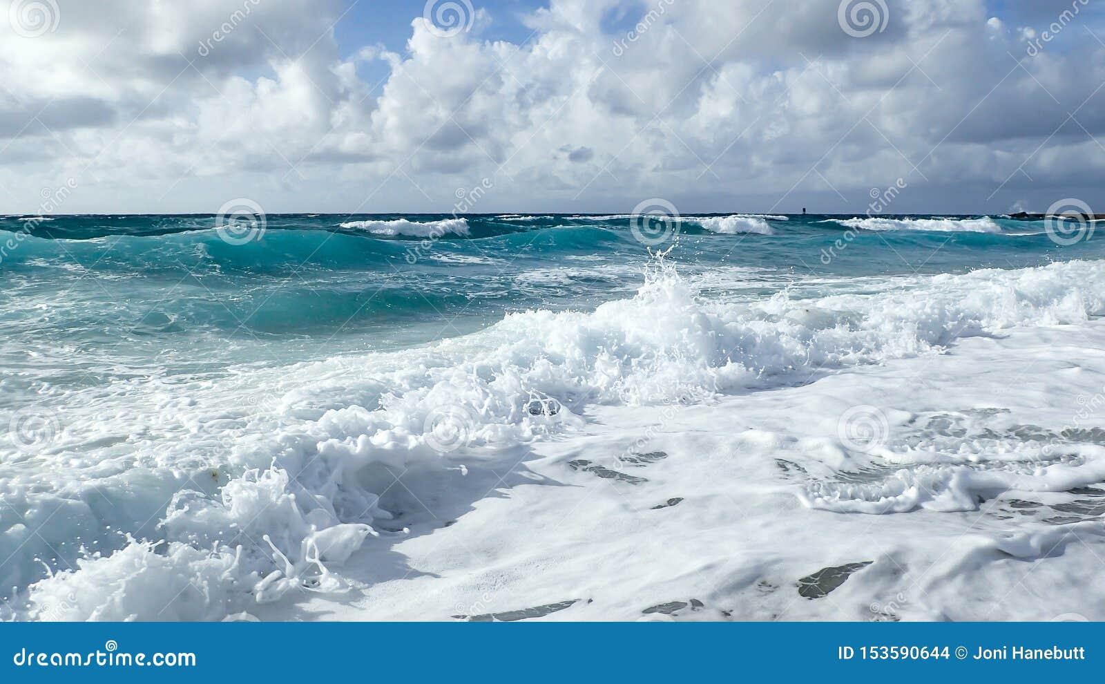 Waves in Florida on the Atlantic coast