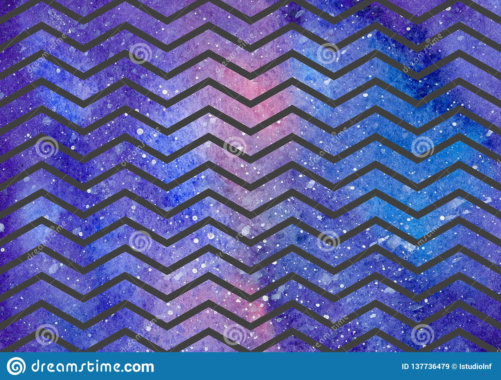 Waves pattern on space texture, abstract background
