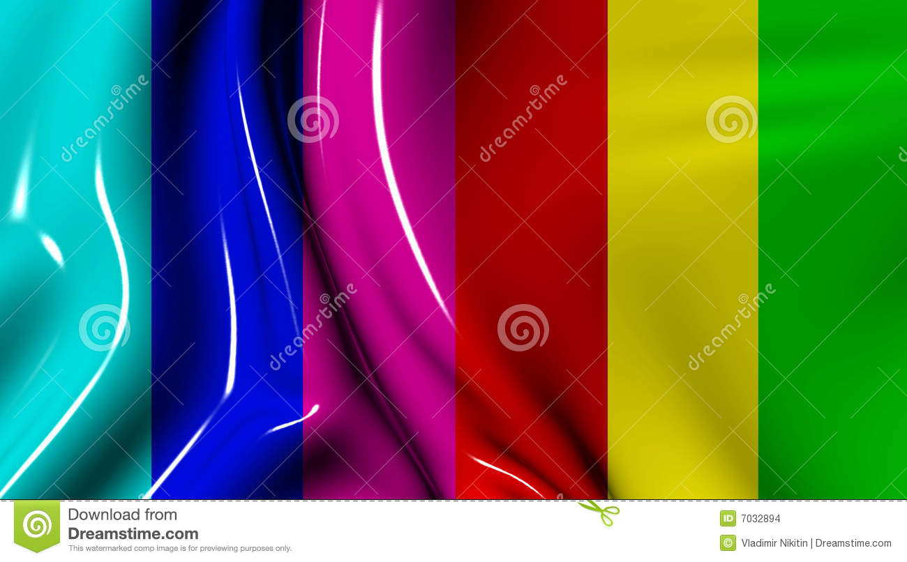 Waves From A Plastic Fabric Stock Illustration