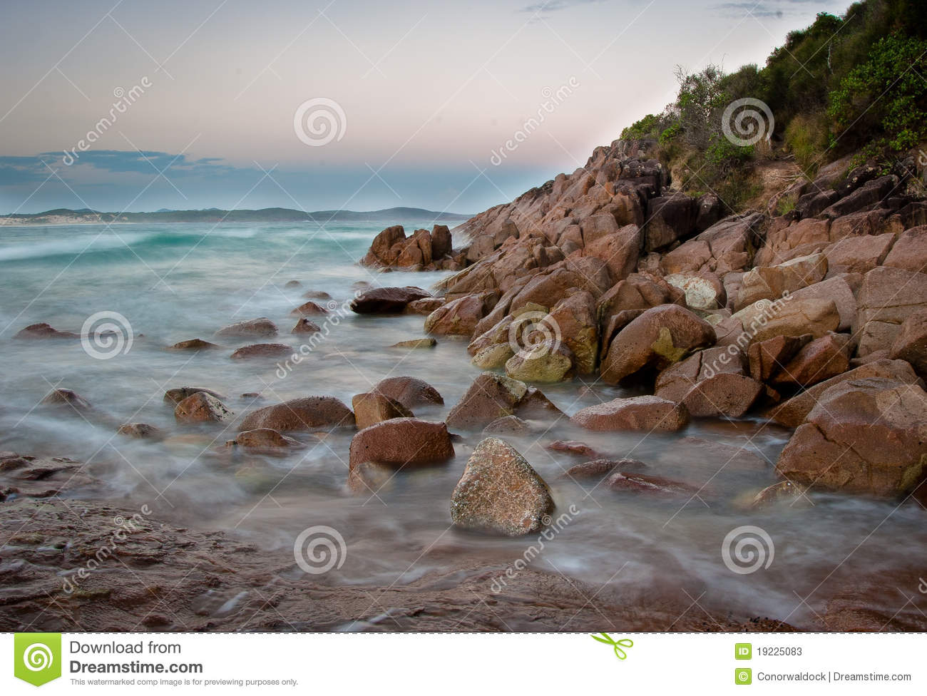 Download Waves on the rocks stock image. Image of long, howth - 19225083
