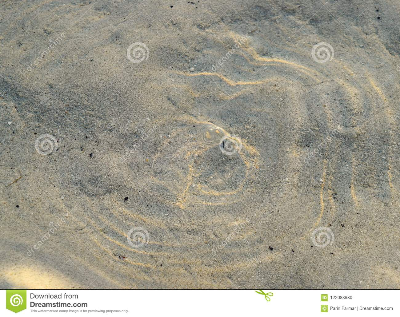 Waves on Water Surface with Underwater Sand - Abstract Texture Natural Background