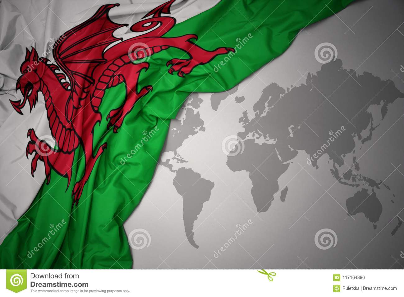 Waving national flag of wales stock photo image of macro print download comp gumiabroncs Image collections