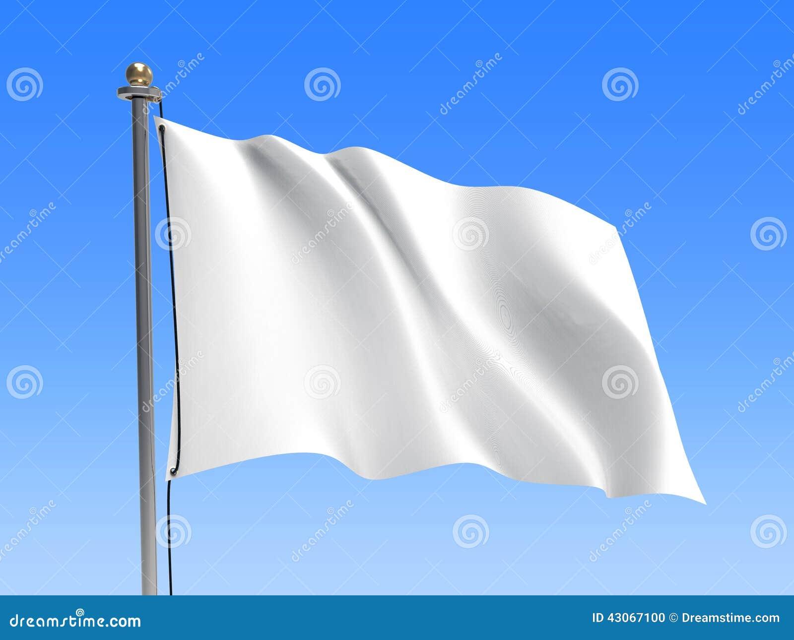Waving Flag Blank Flag Sky Background Stock