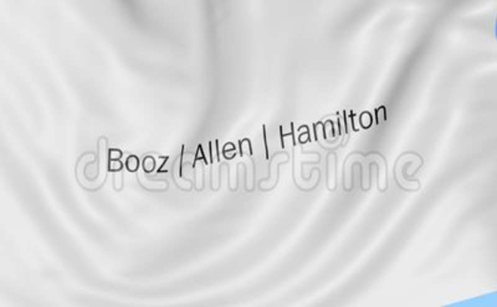 Waving Flag With Booz Allen Hamilton Logo Seamles Loop 4k Editorial