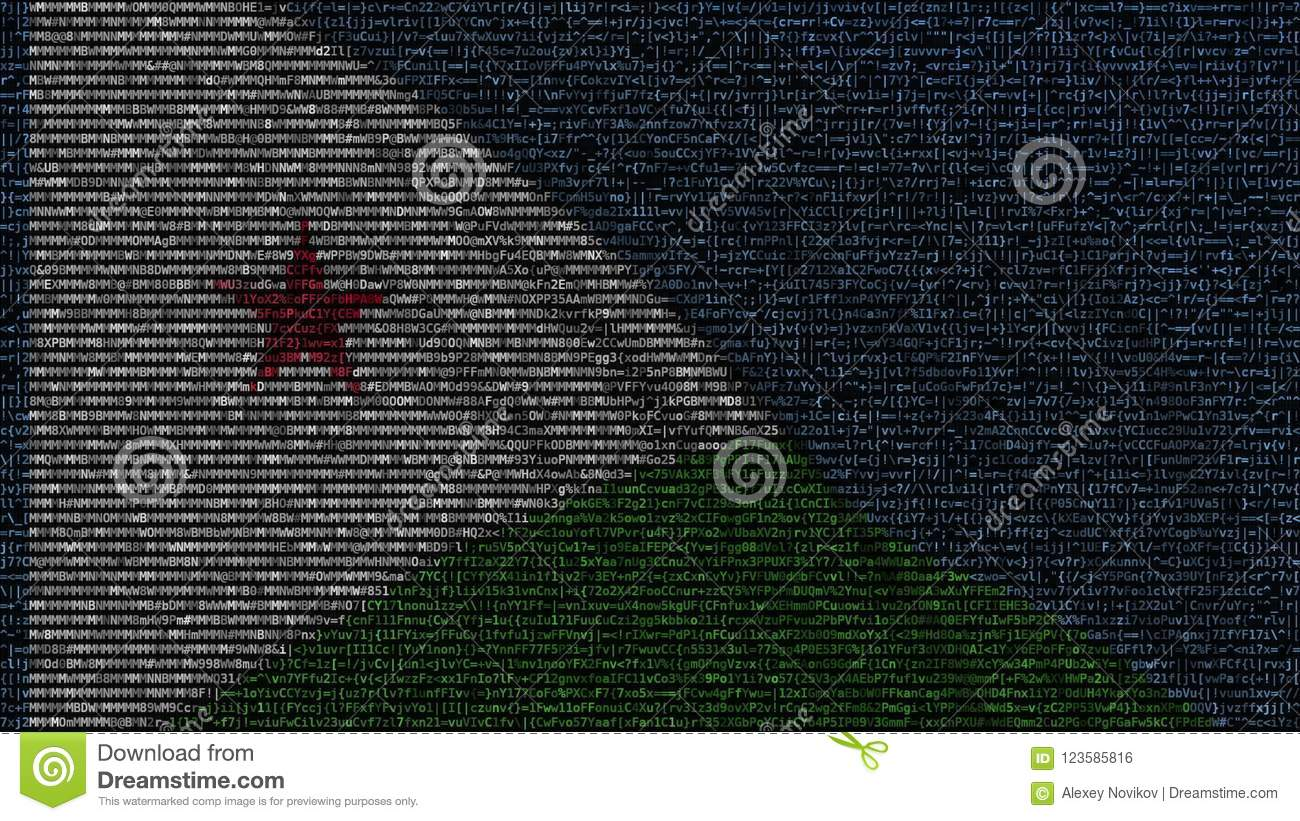 Waving Flag Of Djibouti Made Of Text Symbols On A Computer Screen
