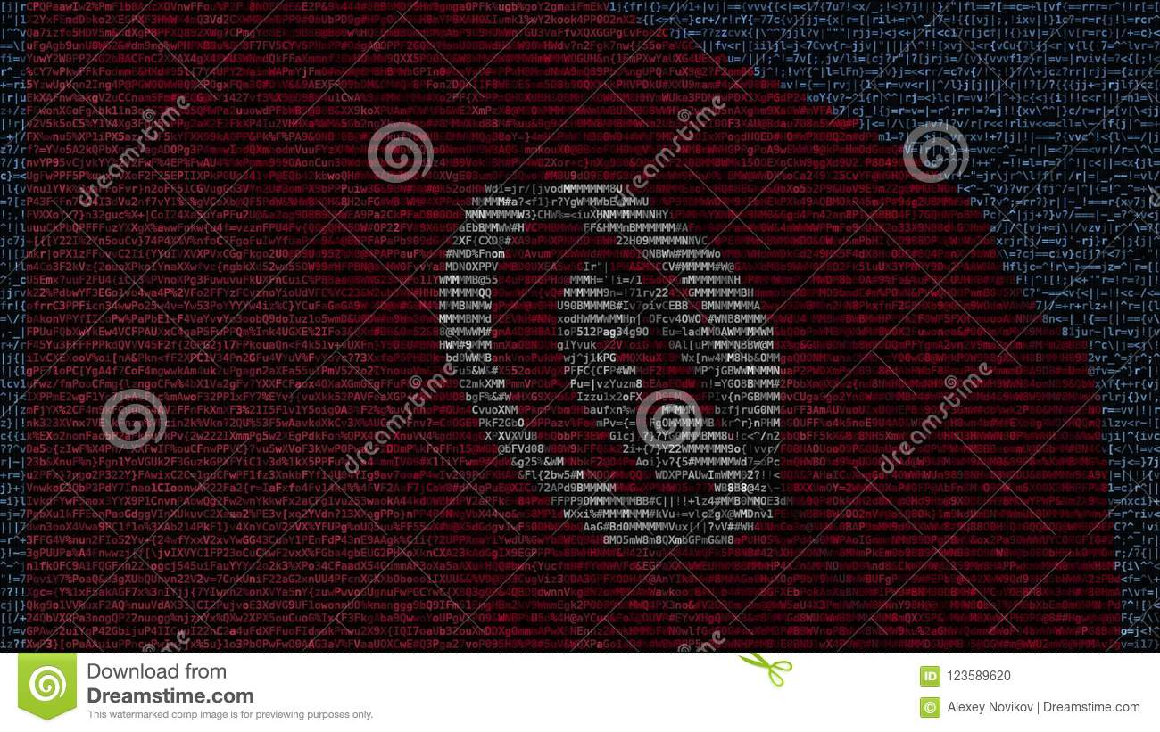 Waving Flag Of Tunisia Made Of Text Symbols On A Computer Screen