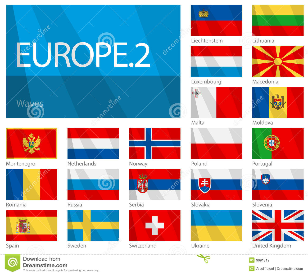 Waving Flags Of European Countries - Part 2 Royalty Free Stock ...