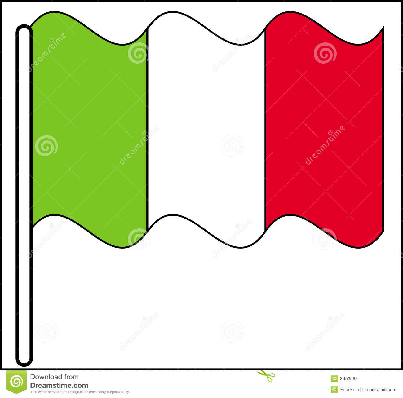 Waving Italy Flag stock vector. Image of background ...