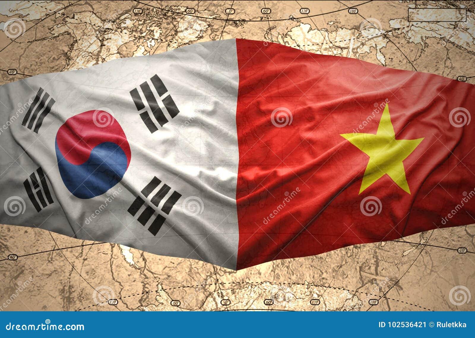 South Korea and Vietnam stock illustration. Illustration of ...