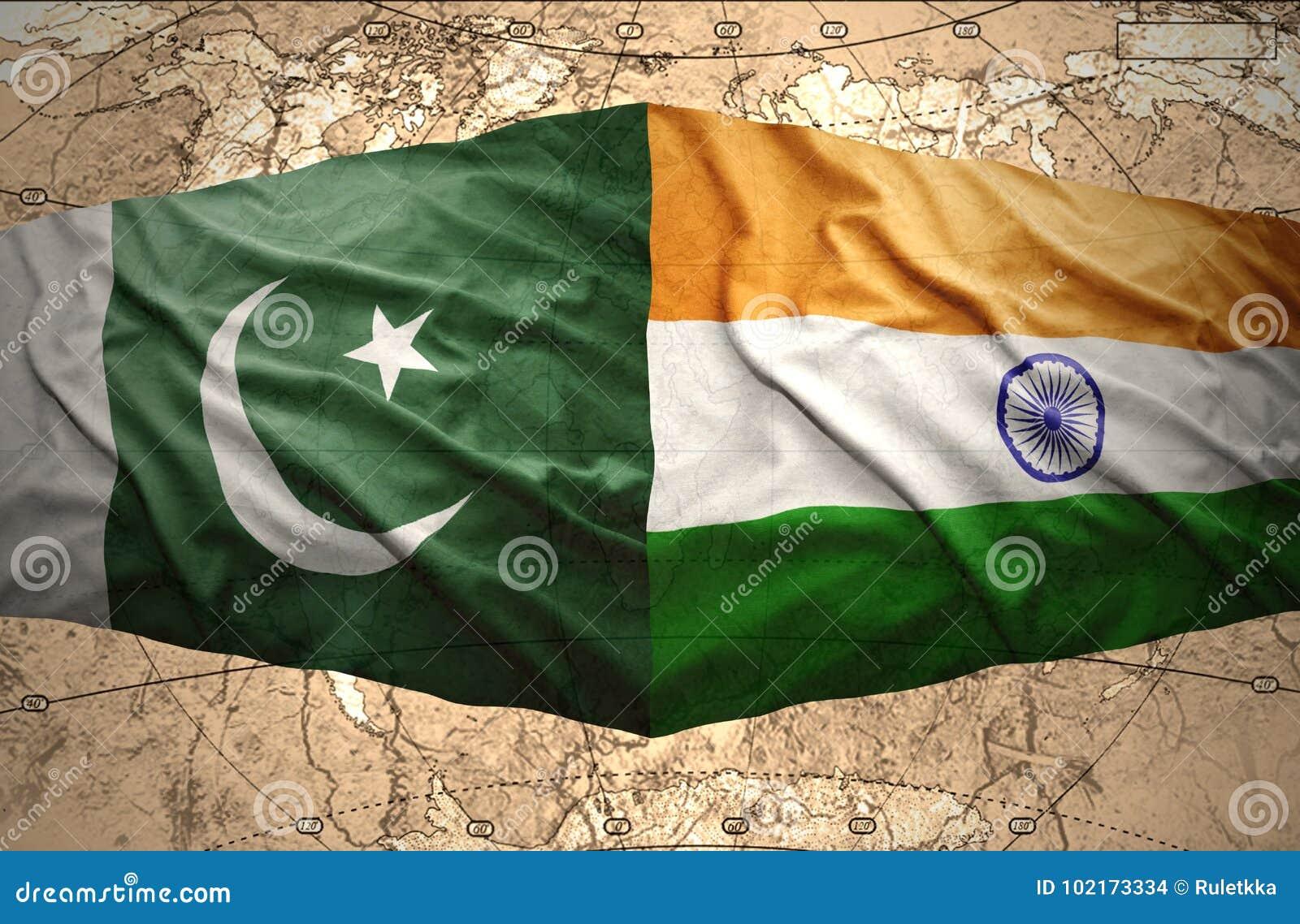 Pakistan and India stock illustration  Illustration of