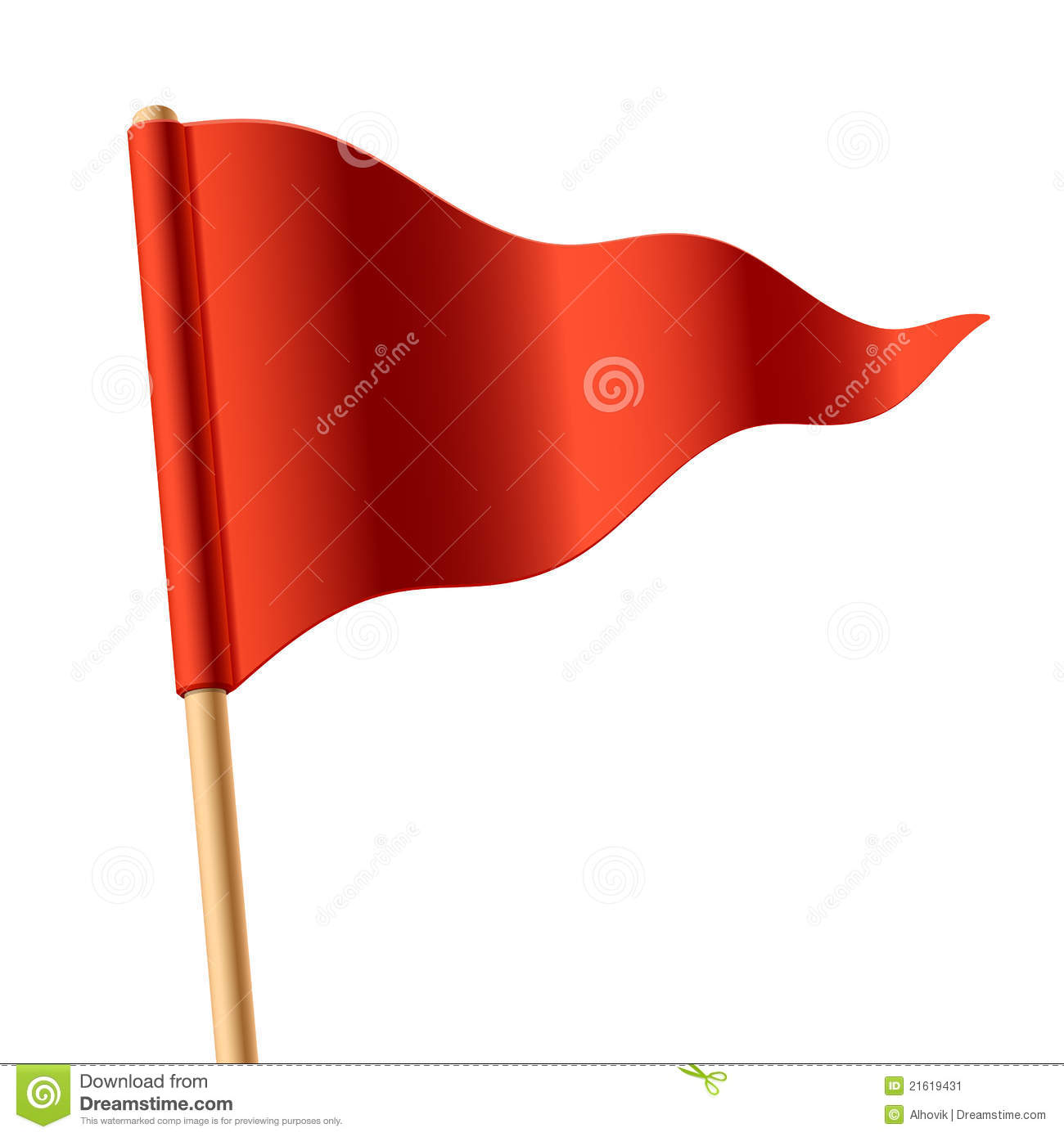 More similar stock images of ` Waving red triangular flag `