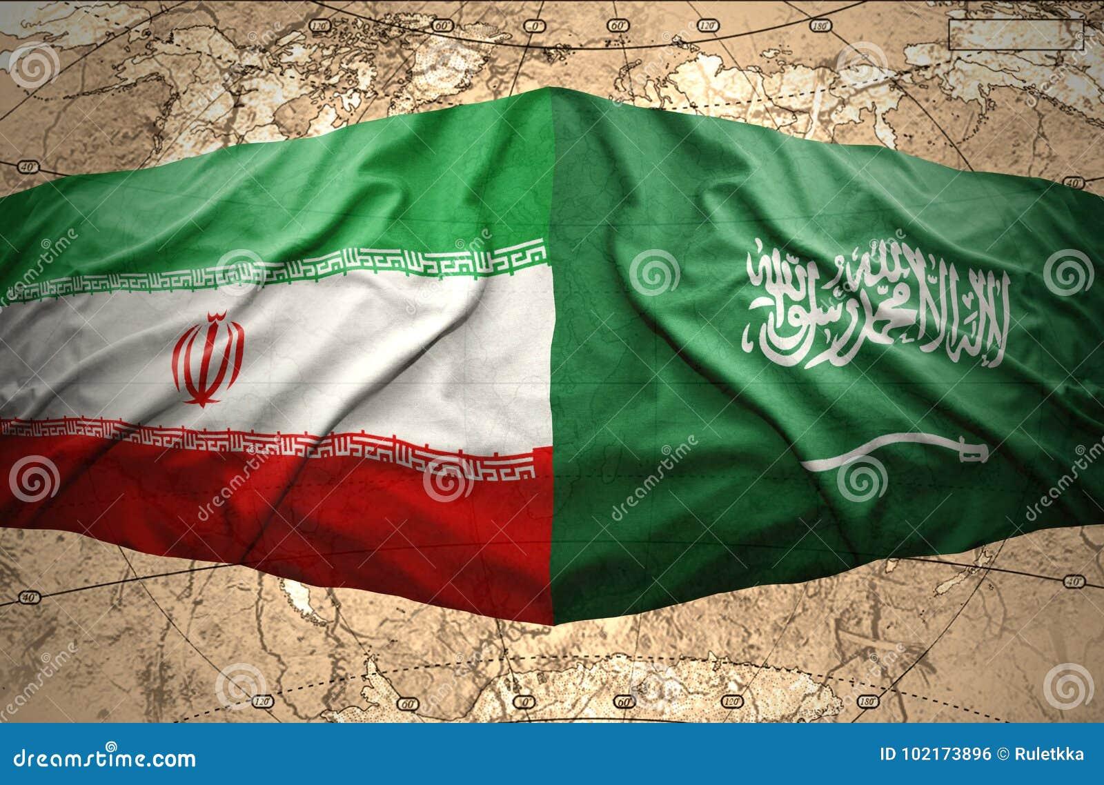 Saudi Arabia and Iran stock photo. Image of contact - 102173896