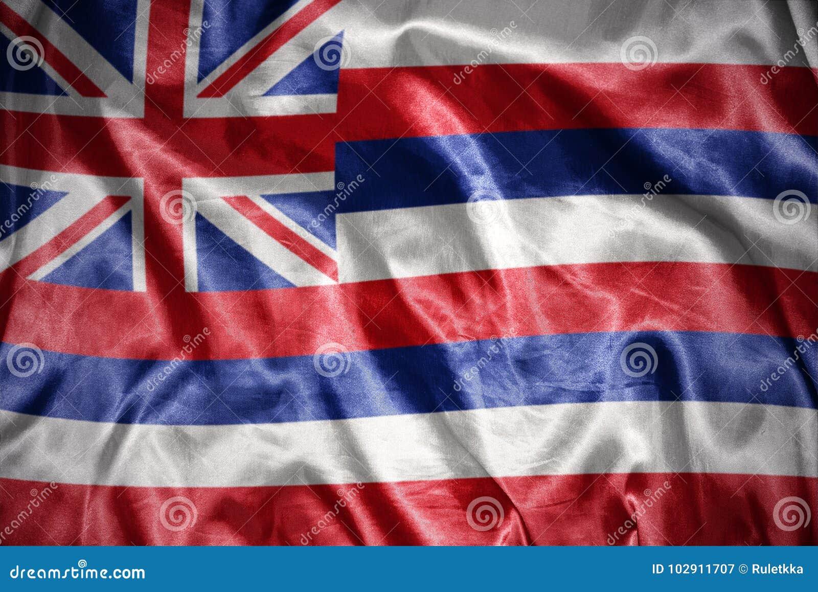 shining hawaii state flag