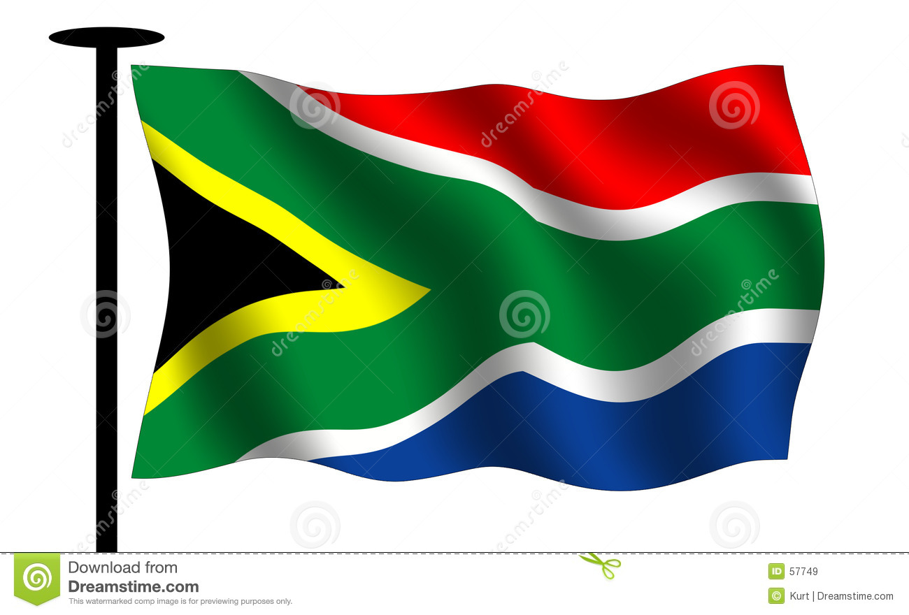 Waving south African flag