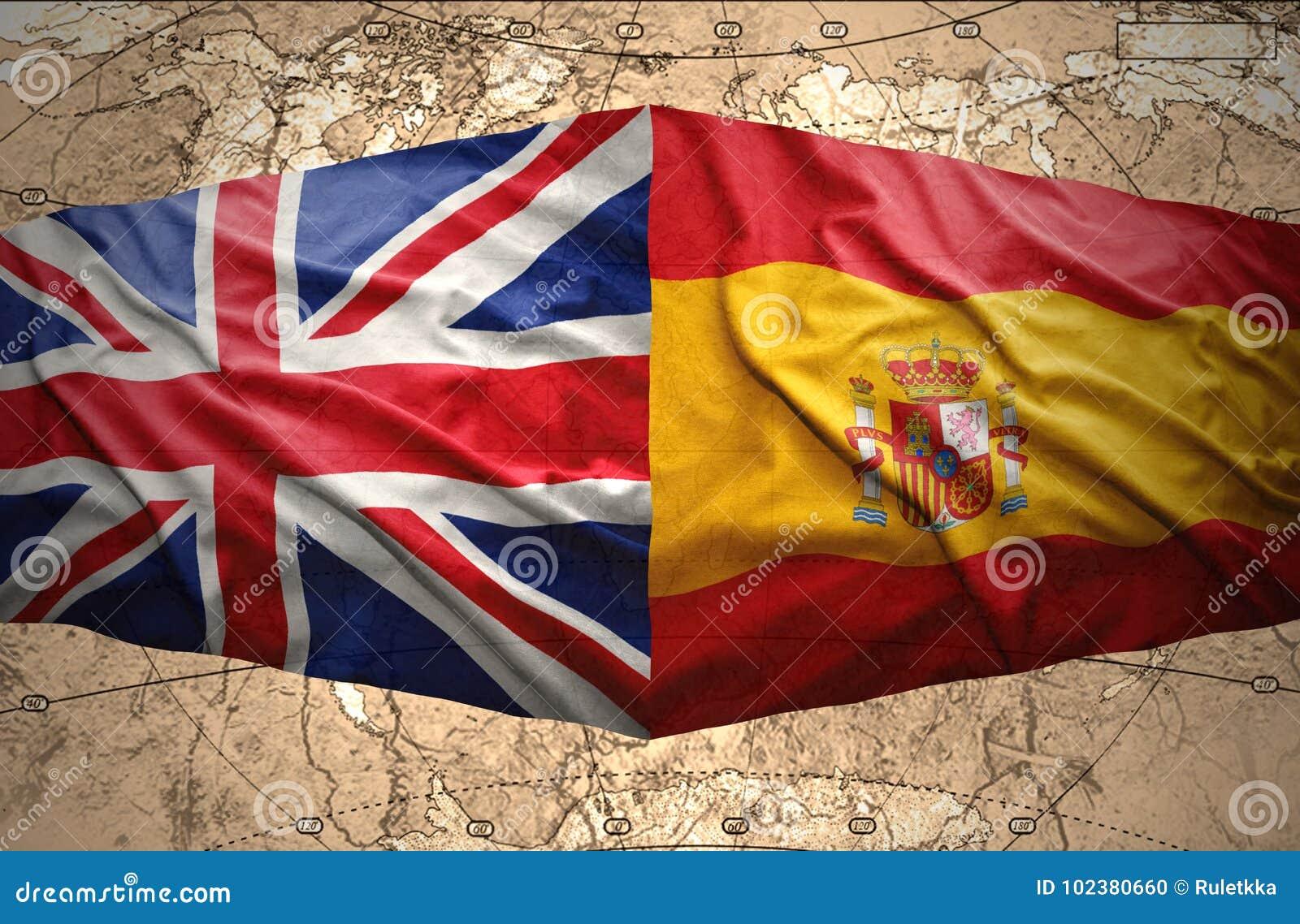 Map Of Spain And United Kingdom.United Kingdom And Spain Stock Illustration Illustration Of Partner