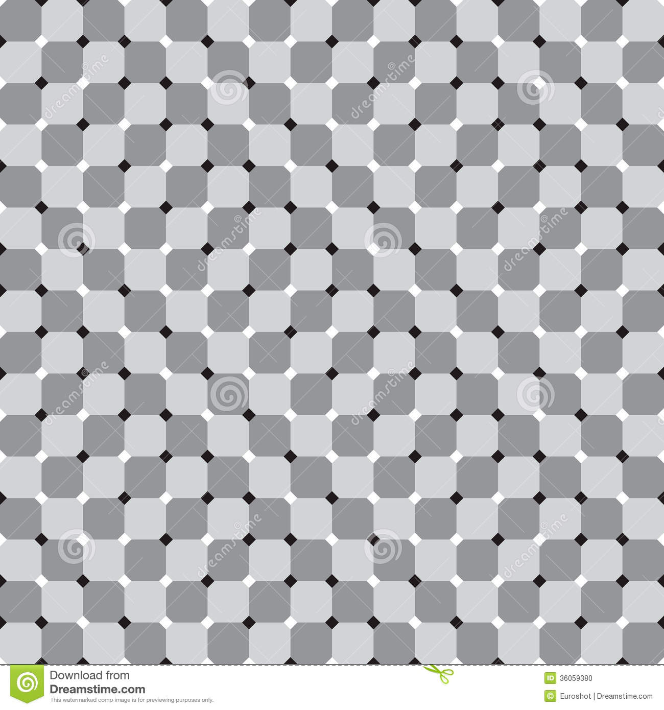 Waving Squares, Black and White Optical Illusion Vector Seamless