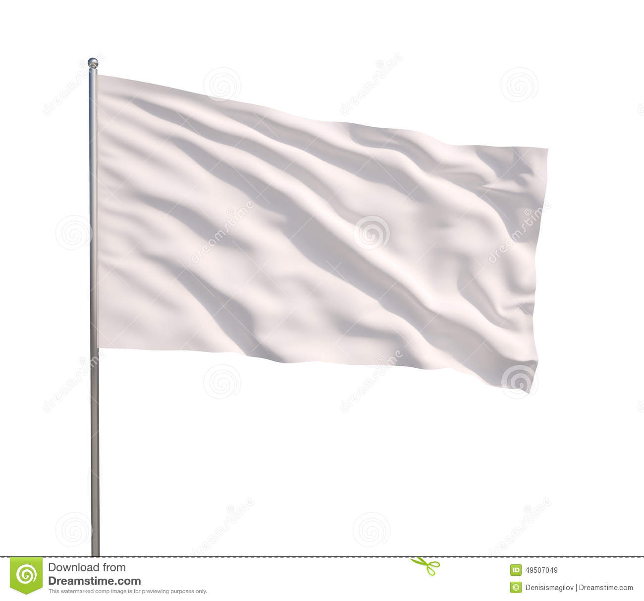 how to make a white flag