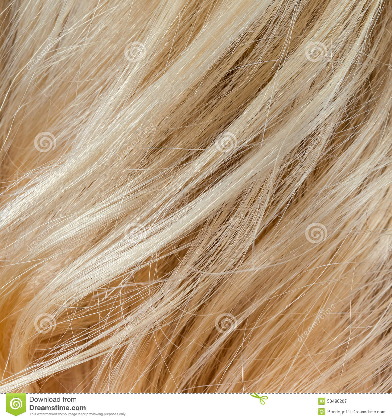 wavy blonde woman hair background and texture stock image